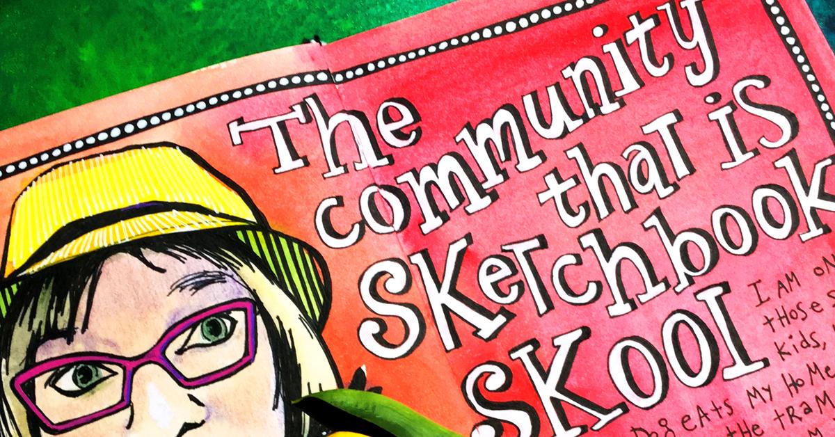 """Sketchbook Skool – discovering """"my peeps"""""""
