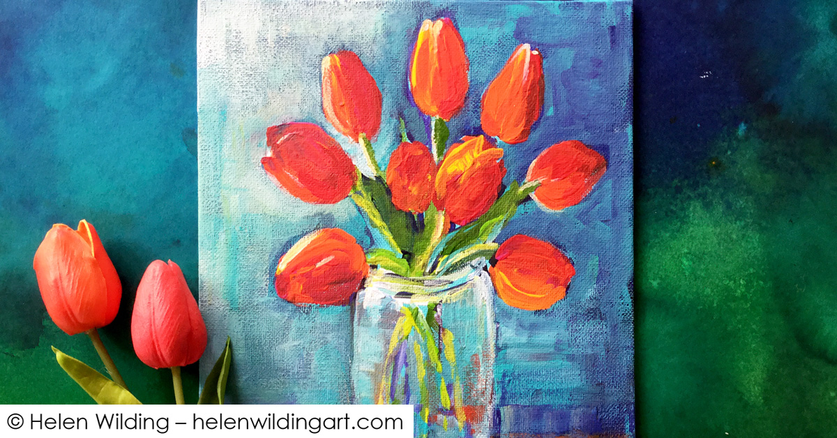 Red tulips inspired by Helen Cooper