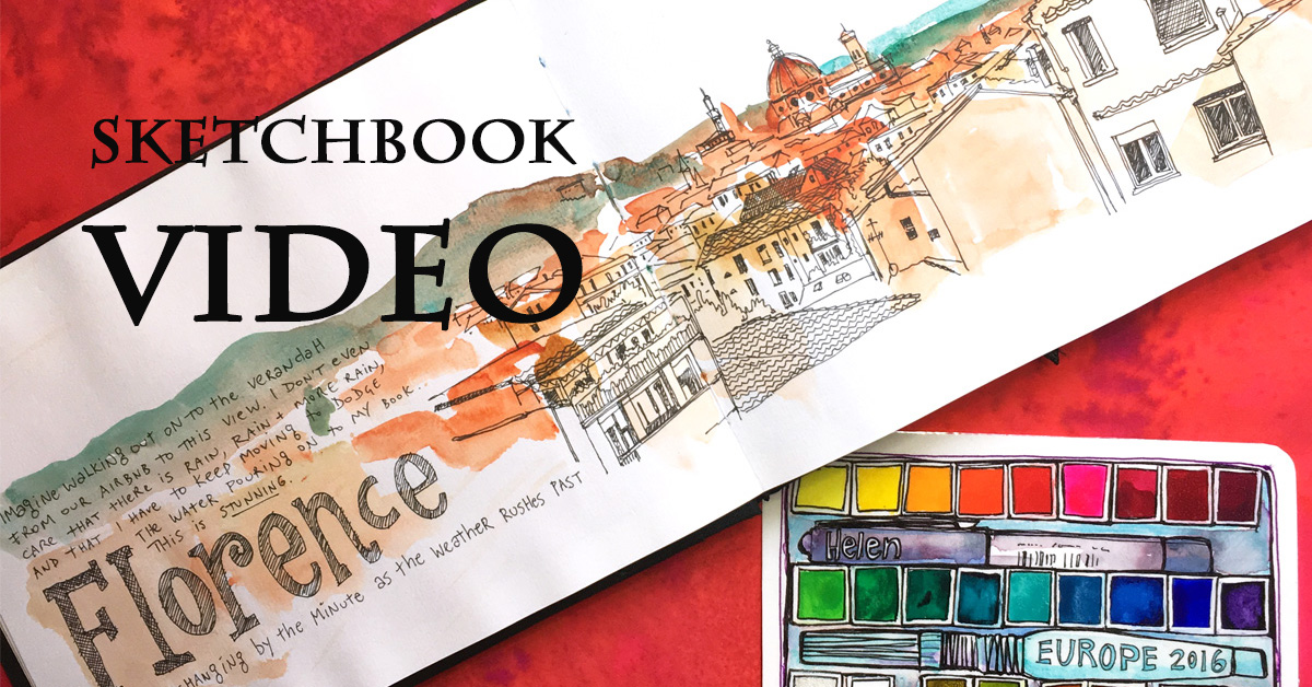 Video of my Clairefontaine sketchbook – still urban sketching through Europe
