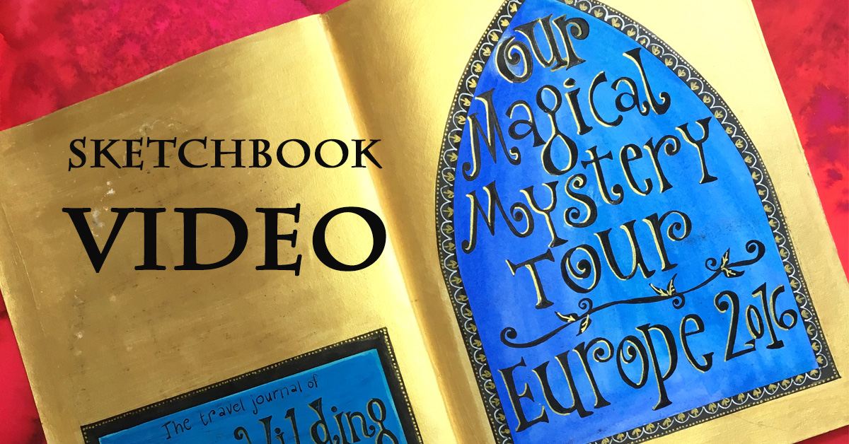 Video of my golden sketchbook – drawing and travelling through Europe