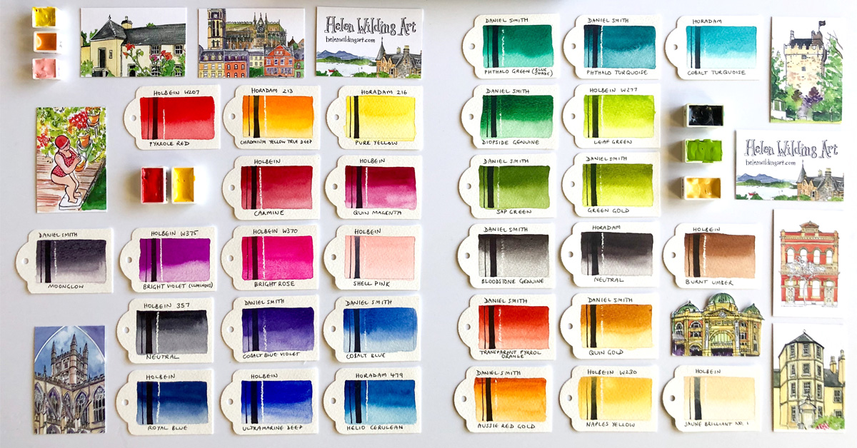 My watercolour palette for 2019