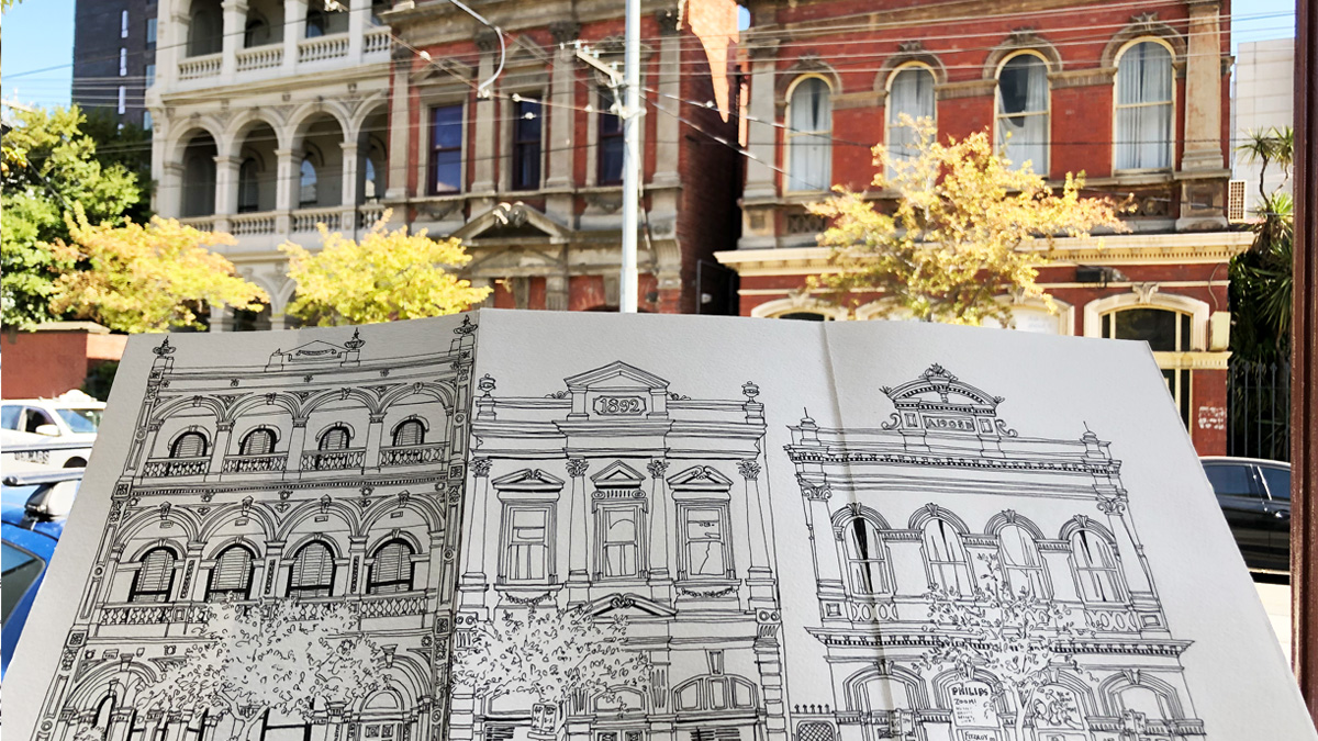 Brunswick Street, Fitzroy – six months of urban sketches and streetscapes