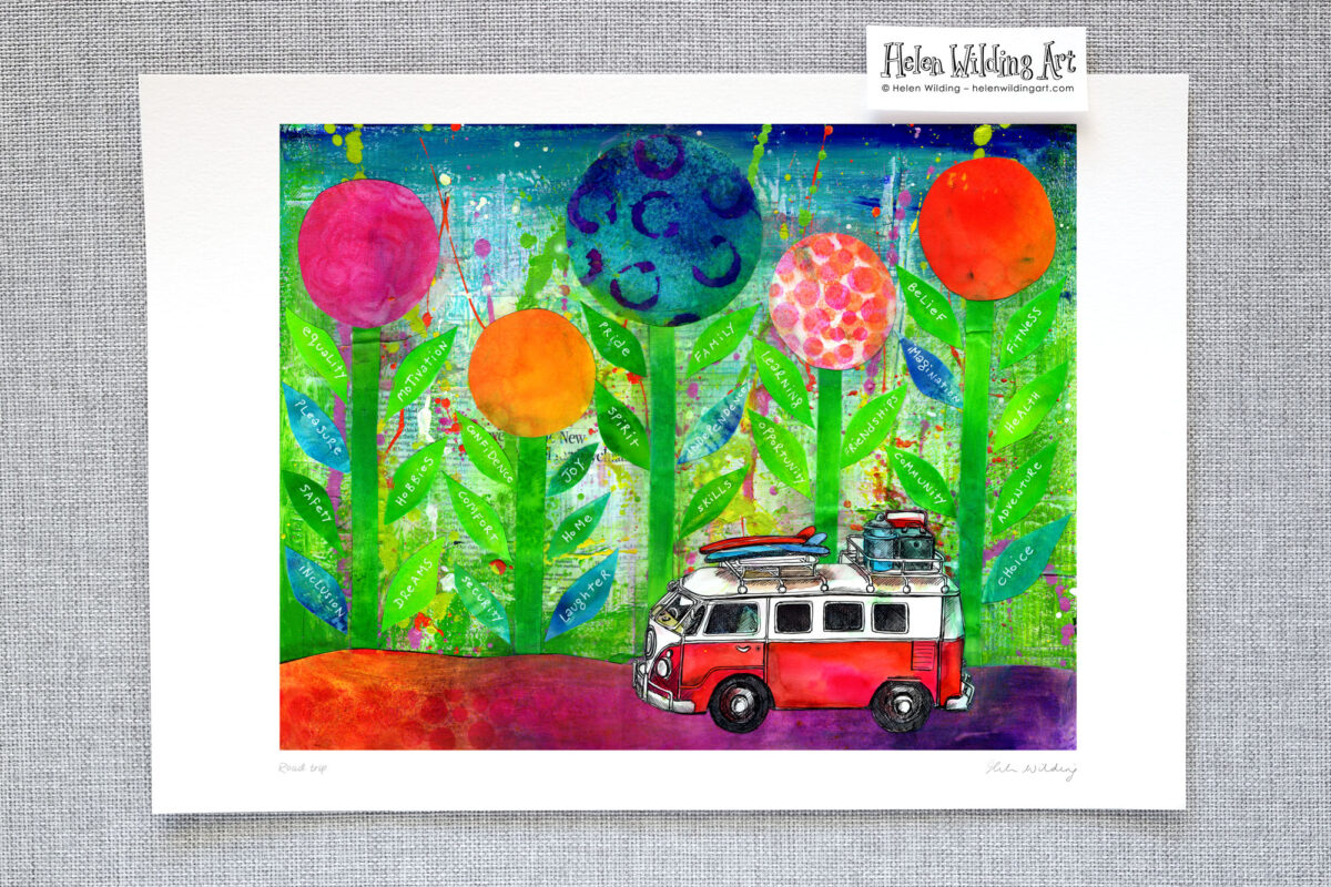 Kombi road trip – a journey of self discovery. Signed open edition fine art print, Helen Wilding, 2014.