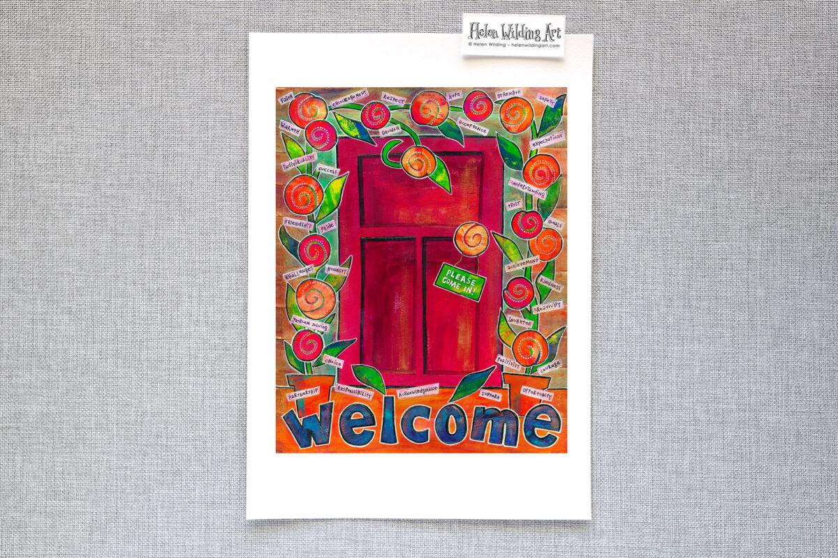 WEB SHOP wellbeing welcome mat print 1 helen wilding 2013